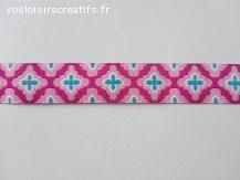 Ruban tissé Jacquard motifs géométriques en 15mm
