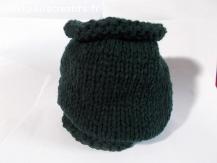 snood en laine acrylique vert sapin