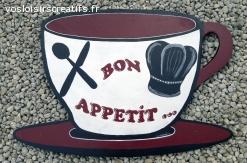 """SUSPENSION MURALE CUISINE """"Bon Appétit"""""""