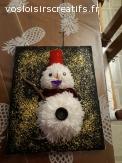 tableau bonhomme de neige