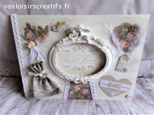 Tableau home déco shabby chic Sweet Home