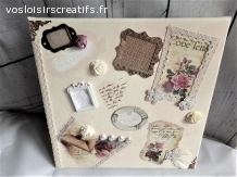 Tableau photos personnalisable shabby chic