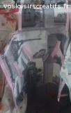 """tablier réalisé à la main en toile imperméable motif """"paris"""""""
