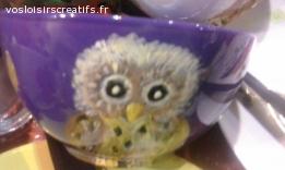 bol en porcelaine décoré main
