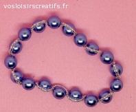 bracelet bleu et argent