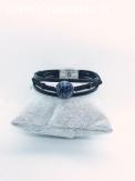 Bracelet cuir/macramé