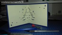 Carte 3D-Sapin de Noël