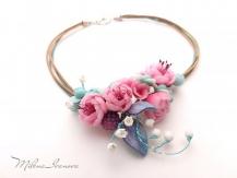 Collier fleurs de printemps