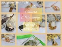 Colliers Artisanaux Coquillage et Pierres de Mer Naturel