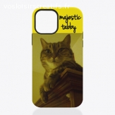 coque pour iPhone, motif chat tabby