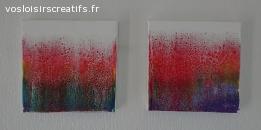 Création originale Fluid Art (pouring) - 29x29 3D (#502)