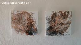 Création originale Fluid Art (pouring) - 29x29 3D (#504)