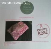 Etuis  à mouchoir en papier  - coeurs rose - sur commande