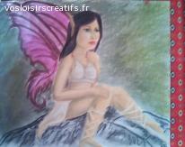 fée aux ailes fushia