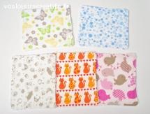 Lingettes lavables pour bébé ou démaquillantes - Papillon