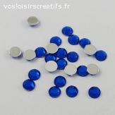 Lots de 5 perles strass à facette - Bleu