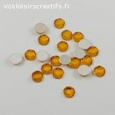 Lots de 5 perles strass à facette - Orange