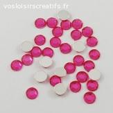 Lots de 5 perles strass à facette - Rose
