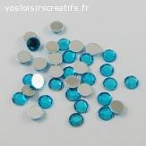 Lots de 5 perles strass à facette - Turquoise