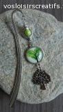 marque page arbre de vie vert