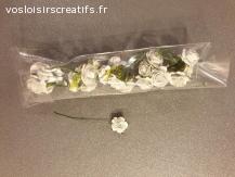 Mini fleurs papier Bleu Pâle