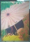 """Peinture """"Ombrelle"""""""