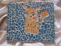 Pikachu pokemon en mosaique