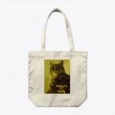 cabas, sac de plage, sac à commissions, motif chat tabby