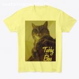 tee shirt, motif chat tabby