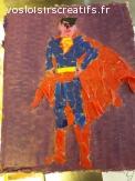 très  beau superman effet mosaique